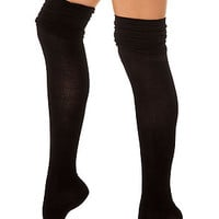 K. Bell Socks Over the Knee Socks in Black