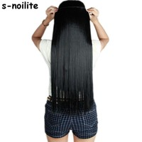 S-noilite Fall to waist 46-76 CM One Piece Hair Extensions
