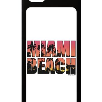 Miami Beach - Sunset Palm Trees iPhone 5 / 5S Grip Case  by TooLoud