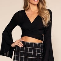 Casey Envelope Skort - Black
