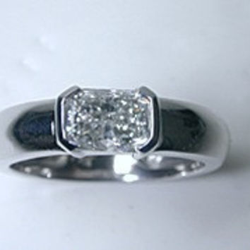 2.08ct Radiant Cut Diamond Engagement Ring GIA certified JEWELFORME BLUE