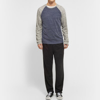 James Perse - Marled Cotton-Jersey Long-Sleeved Raglan T-Shirt | MR PORTER