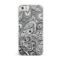 Black and White Aztec Paisley iPhone 5/5S/SE INK-Fuzed Case