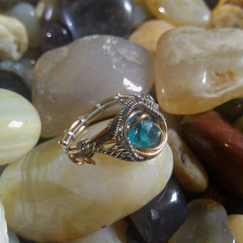 Neptunian: Heady Wire Wrap Ring