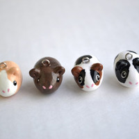 Guinea Pig Animal Charm - Kawaii Polymer Clay