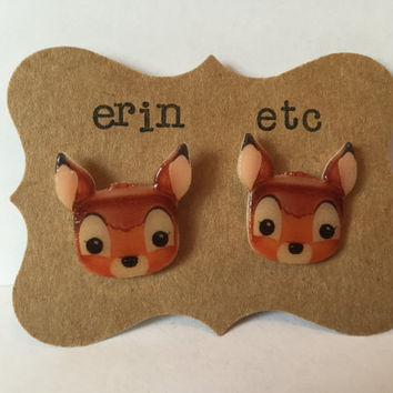 Handmade Plastic Fandom Earrings - Bambi