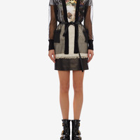 Sheer Cable Knit Cardigan | Alexander McQueen