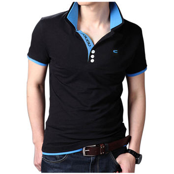 2017 New Fashion Camisetas Short Sleeve Polo Masculinas Turn-down Collar Summer Casual Men's Polo Shirt 6 Colors