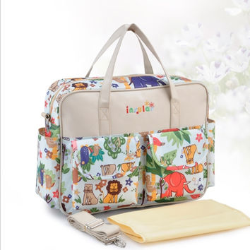 Fashion MultiColored Tote Nappy Bags Cross-body Multifunctional Mummy Bags Maternity Shoulder Diaper Bags Dollar Price Baby Bag