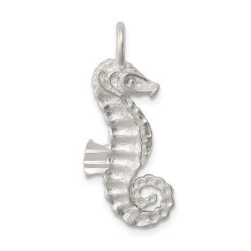 925 Sterling Silver Seahorse Charm and Pendant