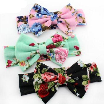 Floral Cotton Pattern Cute Baby Girl Child Infant Toddler Head Wraps Bandana Headband