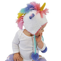 Huggalugs Baby and Toddler Unicorn Beanie Hat Large