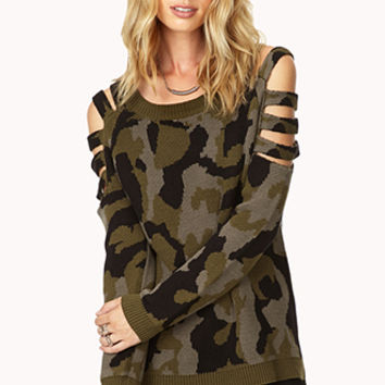 Cutting Edge Camo Sweater