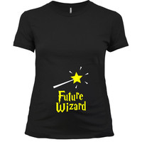 Funny Maternity Shirt Pregnancy T Shirt Baby Announcement Expectant Mother Baby Shower Gift Ideas For Her Future Wizard Ladies Tee - SA753