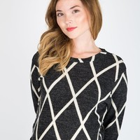 Olivia During & After Sweater Charcoal Diamond - XLarge