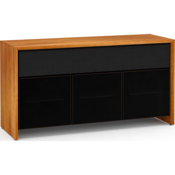 Barcelona 65 Inch TV Stand Cabinet Soundbar Opening Natural Cherry