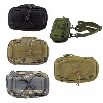 Tactical Molle Waist Bag Outdoor Utility Tools Bag First Aid Pouch Phone Pouch for Belt Vest Camping Sport Pocket
