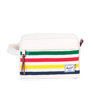 Herschel Supply Co. Chapter Travel Kit Hudson Bay Company Offset Stripe