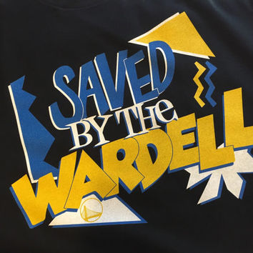 Saved By The Wardell Curry Dub Nation Warriors Shirt DBLR Mens
