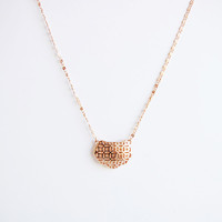 18K Rose Gold filigree necklace