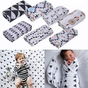 120*120cm Baby Blanket Bedding Covers Boys Girls Aden Anais Muslin Swaddle LUN [8834020748]