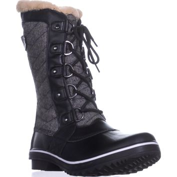 JBU by Jambu Lorna Cold-Weather Boots, Herringbone Black, 8 US / 39 EU