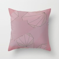 Shapes Shifted Throw Pillow by Ducky B