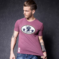 Men's Fashion Summer Men Short Sleeve Cotton Slim Round-neck T-shirts [10488639619]