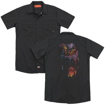 Batman - Batman & Robin #1 (Back Print) Adult Work Shirt