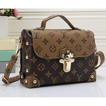 Louis Vuitton LV Women Shopping Leather Crossbody Satchel Shoulder Bag