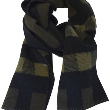 Burberry Check Wool Cashmere Giant Check Scarf