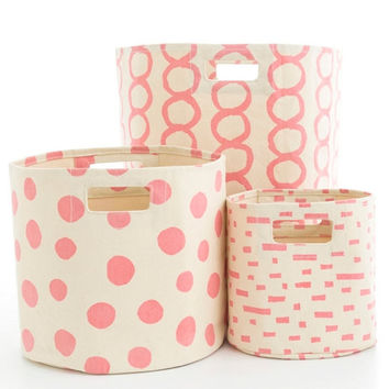 Canvas Coral Storage Bin