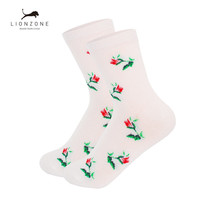 Online Shop Women Embroidering Flower socks Winter Warm 3 Colors Hygroscopic Antibacterial Breathable Daily Bamboo Girls Socks | Aliexpress Mobile