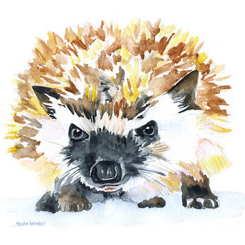 Hedgehog Watercolor 2
