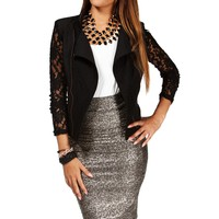 Black Lace Inset Jacket