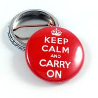Keep Calm And Carry On Pinback Button
