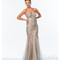 Champagne Sweetheart Fitted Gown