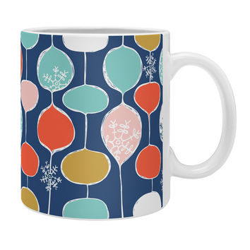 Heather Dutton Snowflake Holiday Bobble Chill Navy Coffee Mug