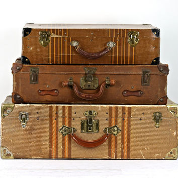 Best vintage luggage sets products on wanelo - Vintage suitcase ...