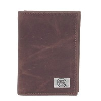 South Carolina Gamecocks Leather Trifold Wallet (Scr Team)