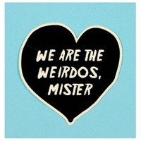 Punky Pins We Are The Weirdos Die Cut Vinyl Sticker | Attitude Clothing