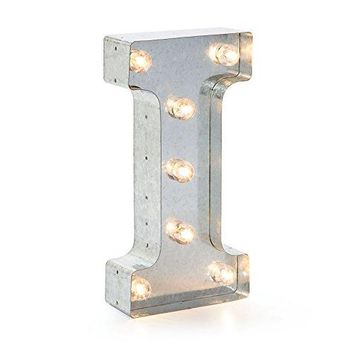 """Darice Silver Metal Marquee Letter 9.875""""-I"""