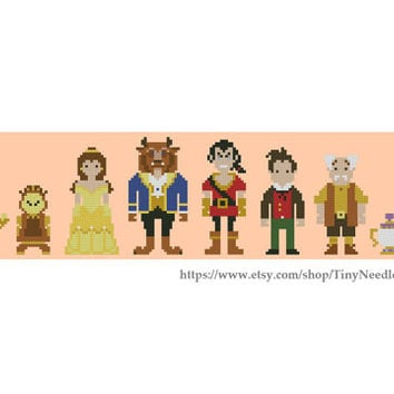 Cross stitch pattern Disney Beauty and the Beast Instant Download PDF