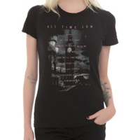 All Time Low Wendy Lyrics Girls T-Shirt