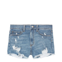 High Waist Denim Short - PINK - Victoria's Secret