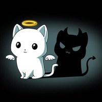 Purr Evil (Black) | Funny, cute & nerdy shirts – TeeTurtle