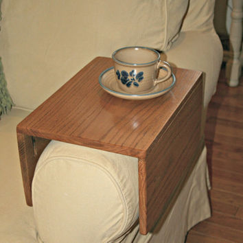 Couch Arm Wrap, Arm Table, Sofa Arm Caddy, Laptop Table, Handmade Solid Oak,