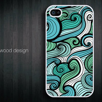 iphone 4 cases iphone 4s case iphone 4 cover abstract colorized  curve graphic design printing