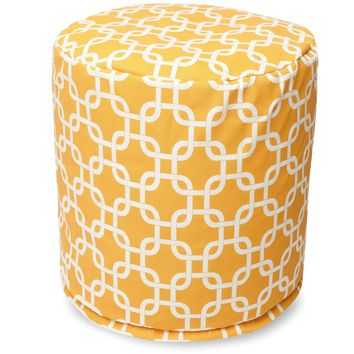 Yellow Links Small Pouf