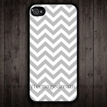 iPhone 4 Case iphone 4s case gray chevron iPhone by MyTeenageDream